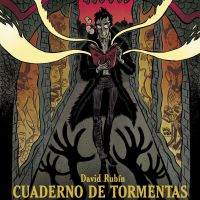 "Capa de ""Caderno de tormentas"", de  David Rubín"