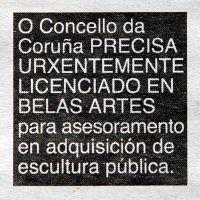 Anuncio (La Voz de Galicia, A Coruña, 2009), de  Enrique Lista